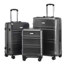 High Quality Luggage Set 3pcs Suitcase Ergonomic Telescoping Handle W/ TSA lock