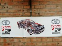 Toyota Celica ST165 trd wrc large pvc  WORK SHOP BANNER garage  SHOW BANNER