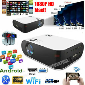 20000 Lumens Projector WiFi Android LED HD 1080P Home Theater Cinema HDMI USB AV