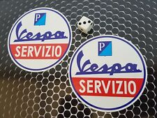 Vespa Servizio x2 90mm Stickers Decals Scooters Vans Moped piaggio mod
