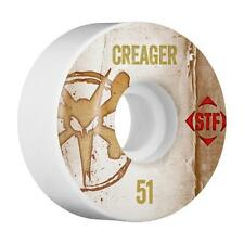 New Bones Stf Pro Creager Vintage V1 White Skateboard Wheels 51mm - (Set of 4)