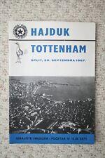 Official programme Hajduk Split v Tottenham Hotspur 1967