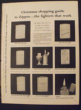 1961 Zippo Lighters Solid Gold Christmas-Holiday Shopping Guide Seasonal Xmas Ad