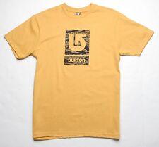 Burton Logo Fill Tee (M) Saffron