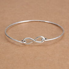 Fashion Tibetan Silver One Direction Infinity Friendship Bangle Bracelet Jewelry