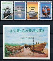 Barbuda 1987 Schiffe Sailing Ships Bateaux Navi Segelboote 929-32 Block 117 MNH