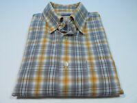 Canali Men's Long Sleeve Cotton Colorful Plaids Checks Italian Casual Shirt XL