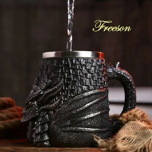 Baphomet  Tankard Skull  Mug Real Viking Creative Beer,Coffe Mug Stainless Steel