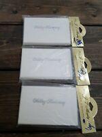 Vintage Invitations Wedding Anniversary J T Murphy Lot of 3 Silver White MCM NOS