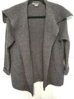 Vince Open Front Shawl Cardigan Sweater Knit Yak Wool Blend Gray Size Small