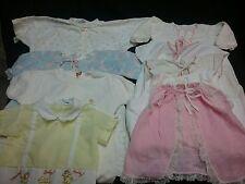 Vintage newborn infant Carters robe sleeper shirts lot organic baby 1950s doll