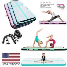 10-20Ft Inflatable Air Track Gym Mat Yoga Floor Gymnastics Tumbling Mat W/ Pump