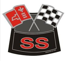 SS FLAGS CHROME AIR CLEANER DECAL CHEVY TRUCK CAMARO CHEVELLE NOVA NEW PRODUCT
