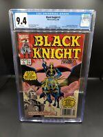 Black Knight #1 CGC 9.4 1st Print White Pages Marvel Comics!