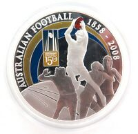.1858 - 2008 .999% FINE SILVER 28.4g COLOURED $1 PROOF 150 YEARS AFL + SPEC CARD