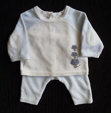 Baby clothes BOY newborn 0-1m Vertbaudet outfit top/trousers 2nd item post-free
