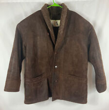 North 44 Degrees Men's Xl Jacket 100% Lamb Skin Brown Made In Canada