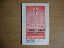 1957/8 Lincoln City V Grimsby Town-Liga División 2-Buen Estado