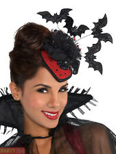 Ladies Clip on Couture Vampire Hat Adult Halloween Fancy Dress Costume Accessory