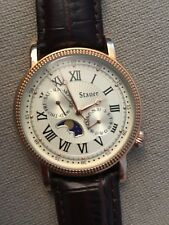 Stauer Rose Gold Finished Moon Phase Watch - New!!!