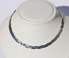 Echt 925 Sterling Silber Kette Collier 3 reihig geflochten 45 cm Nr 506