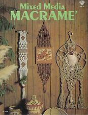 Rare Vintage 1970's Mixed Media Macrame Patterns Book HH30 Art Wall Hangings
