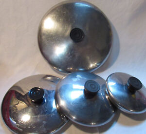 """Vintage Revere Ware Stainless Steel Lid Top replacement- 5,5.5""""-6""""-7""""-8""""-10""""-12"""""""