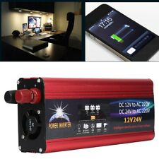 SOLARE POWER INVERTER 4000W 7000W DC 12V/24V AC 220V POTENZA Convertitore USB