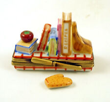 New French Limoges Box Shelf W Recipe Cook Books Cake Book Removable Pot Holder