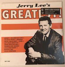 JERRY LEE LEWIS JERRY LEE'S GREATEST! LP ORANGE COLOR VINYL ONLY 1,000 COPIES