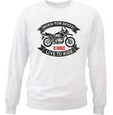 BMW R100GS - NEW COTTON WHITE SWEATSHIRT ALL SIZES IN STOCK