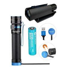 Olight Baton Pro 2000 Lm magnetic rechargeable LED flashlight Hard Shell Holster