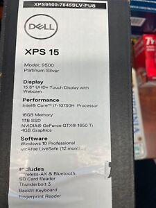 "Dell XPS 15 9500 15.6"" Touchscreen (1TB SSD, Intel Core i7-10750H, 2.60GHz, 16GB"