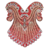 Large Hot Fix Rhinestones Applique Crystal Iron on Patches Trimming Collar