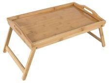 Bandeja cama bambú mesilla de cama plegable Pies BANDEJA DESAYUNO BANDEJA