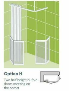 Impey Option H 750mm High Shower Screens