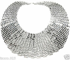 Wide Heavy Chain Link Necklace Mexico Big Bold Taxco Mexican 925 Sterling Silver