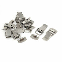 10pcs Metal Suitcase Boxes Case Closure Hasp Toggle Latch Silver Tone