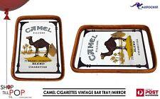 CAMEL CIGARETTES VINTAGE BAR MIRROR-TRAY 40x30cm 1970's MINT RARE MAN CAVE
