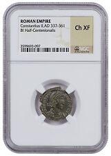Roman Billon Half-Centenionalis of Constantius II AD 337-361 NGC Ch XF SKU47144
