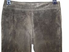 Danier Size 28x32 Womens Genuine Leather Pants Boot Cut Soft Green Suede