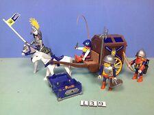 (L39) playmobil Set chevalier du lion convoit du trésor ref 3314 3268