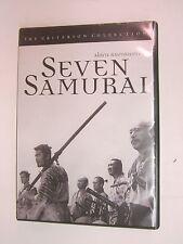 Seven Samurai (Dvd, 1998, Criterion Collection)- Akira Kurosawa - Free Shipping