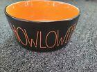 Rae Dunn Halloween 🎃HOWLOWEEN🎃 Black Orange XL Dog Pet Bowl - NEW