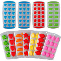 Silicone/Plastic Ice Cube Tray Freeze Mould Bar Jelly Pudding Chocolate Maker