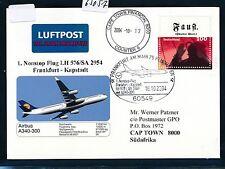 65057) LH FF Frankfurt - Kapstadt Südafrika 16.10.2004, sp card