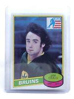 1980-1981 Jim Craig #22 Boston Bruins OPC O-Pee-Chee Ice Hockey Card H593