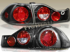 1998-2000 Honda Accord DX EX LX SE Sedan 4 Door Tail Lights G2 JDM Black