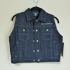 NEW Boys Rocawear Denim Vest With Photo Panel On Back