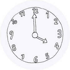24 x 40mm Round 'Clock Face' Stickers (SK00005277)